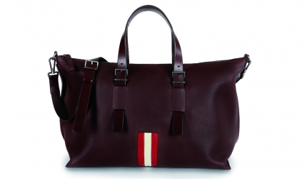 Bally Stripe The Weekender Boskar Chestnut